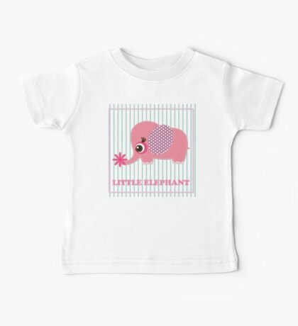 Cute girl elephant illustration for apparel or other uses,in vector. Baby showers, parties for baby girls. Baby Tee