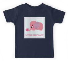 Cute girl elephant illustration for apparel or other uses,in vector. Baby showers, parties for baby girls. Kids Tee