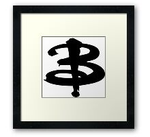 Buffy black Framed Print