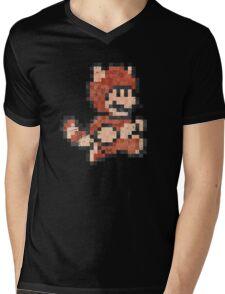 Super Mario Tanooki Vintage Pixels Mens V-Neck T-Shirt