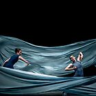 Blue waves of dance by Aikaterini  Koutsi Marouda