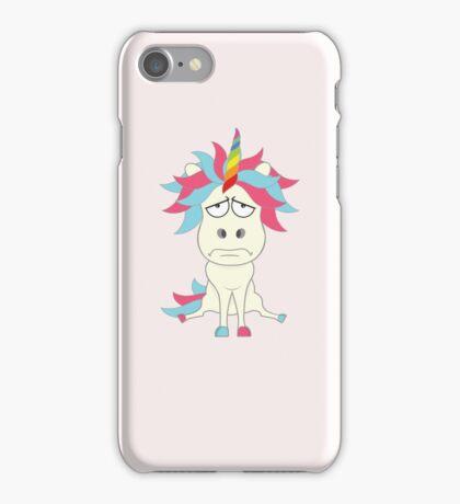 Crazy Unicorn - Grumpy Edition iPhone Case/Skin
