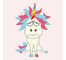 Crazy Unicorn - Grumpy Edition Photographic Print