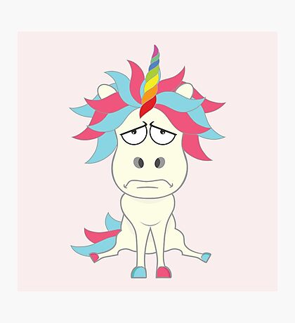 Crazy Unicorn - Grumpy Edition Photographic Print