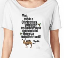 Jolly Sweater with Reindeer Women's Relaxed Fit T-Shirt