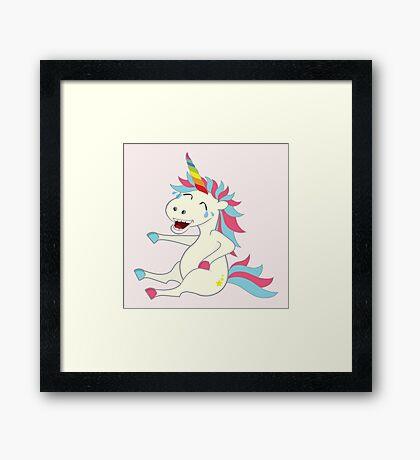 Crazy Unicorn - Hilarious Edition Framed Print