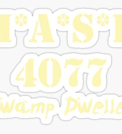 MASH 4077 Swamp Dweller - Pale Sticker