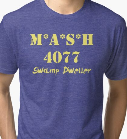 MASH 4077 Swamp Dweller - Yellow Tri-blend T-Shirt