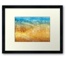 Golden Blue Sands Framed Print