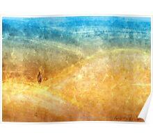 Golden Blue Sands Poster