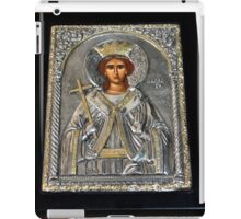 BYZANTINE ICON STERLING SILVER AND GOLD iPad Case/Skin