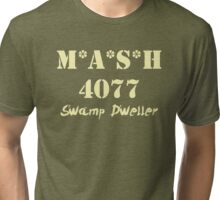 MASH 4077 Swamp Dweller - Pale Tri-blend T-Shirt