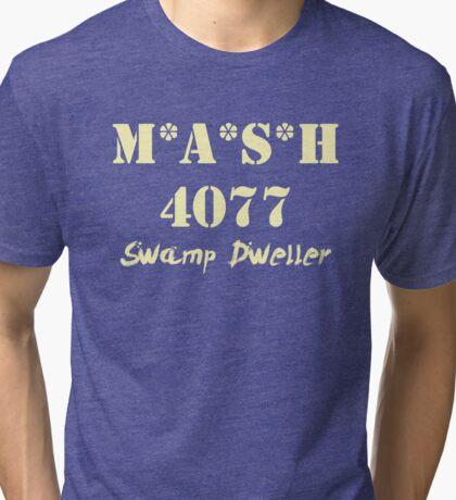MASH 4077 Swamp Dweller - Pale Tri-blend T-Shirt