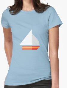Nautical - Sailboat Womens Fitted T-Shirt