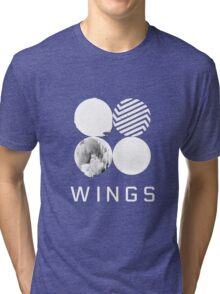 BTS Wings Logo (Black) Tri-blend T-Shirt