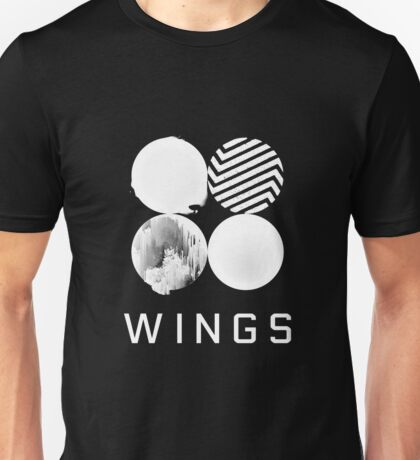 BTS Wings Logo (Black) Unisex T-Shirt