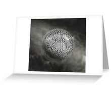 Planet Earth global death Greeting Card