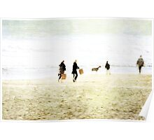 Family On The Beach Poster