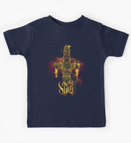shiny spaceship Kids Tee
