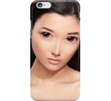 Young asian woman anime style beauty portrait art photo print iPhone Case/Skin