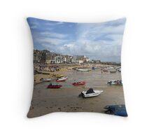 St Ives Beach, Cornwall Throw Pillow