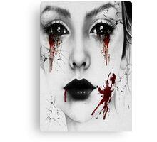 Bloody Girl Canvas Print