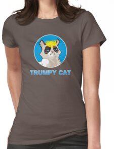 Trumpy Cat trump kitty blond pony funny joke trump  Womens Fitted T-Shirt