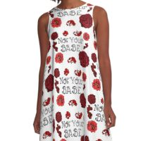 """Not Your Babe"" Red White and Black Florals A-Line Dress"
