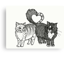 Cats in Love Canvas Print