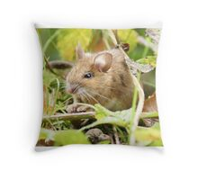 Wood Mouse Throw Pillow