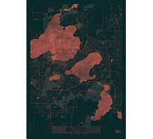 Madison Map Red Photographic Print