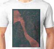 Liverpool Map Red Unisex T-Shirt