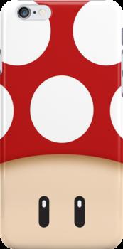 Red Super Mushroom by mechantefille