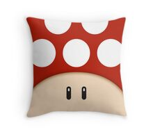 Red Super Mushroom Throw Pillow