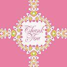 Sweet Thanks | Thank You Card by webgrrl