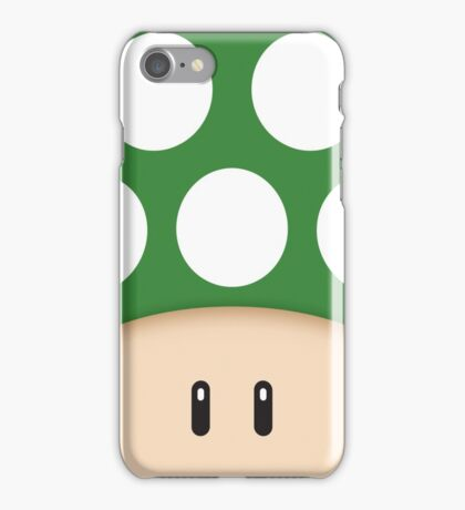 Green 1UP Mushroom iPhone Case/Skin