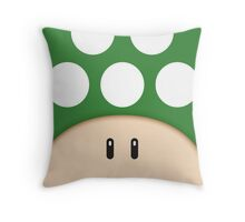 Green 1UP Mushroom Throw Pillow