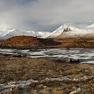 Rannoch Moor and the Black Mount in winter. by John Cameron