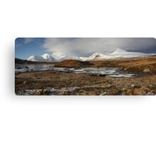 Rannoch Moor and the Black Mount in winter. Canvas Print
