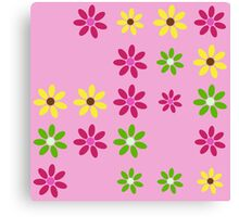 Pretty in Pink Floral Pattern Canvas Print