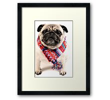 I AM PUG..... in scarf... Framed Print