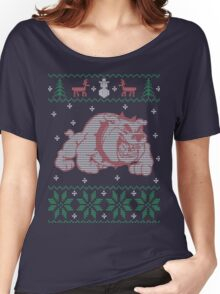 Bulldog Ugly Sweater Women's Relaxed Fit T-Shirt