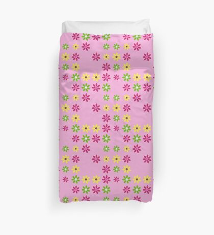 Pretty in Pink Floral Pattern Duvet Cover