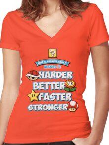 Daft Plumber Women's Fitted V-Neck T-Shirt