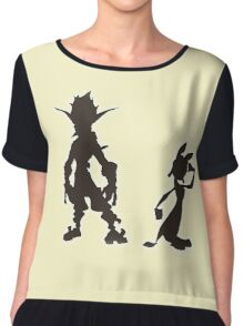 Jak and Daxter: The Precursor Legacy Silhouette Chiffon Top