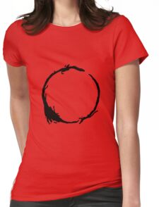 Arrival Movie Circle Language 4 Womens Fitted T-Shirt
