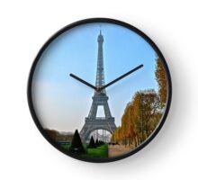 Eiffel Tower in Autumn Clock