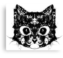 Rorschach Kitty Canvas Print