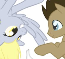 Derpy and Doctor Whooves Sticker