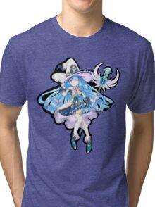 Cute Anime Magic Girl Tri-blend T-Shirt